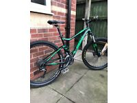 Giant stance full sus mountain bike with upgrades