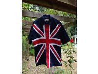 Classic Vintage style Union Jack Novelty Shirt Size M-L