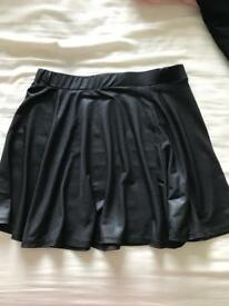Age 10-11 leather look skater skirt