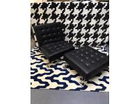 Single Clic Clac Sofa Bed Faux Leather Black