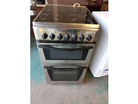silver Indesit 50cm ceramic cooker is in perfect working order and in good condition