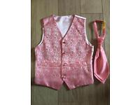 Pink Waistcoat & Tie aged 8-9 yrs,