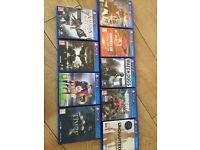 PS4 games . 6 games