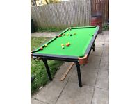 6ft snooker / pool table £80