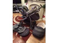 pram pushchair travel system car seat cosytoes basket silver cross