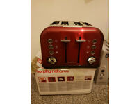 Breville Impressions 4-Slice Toaster, Red and white