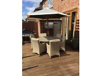 Bali Ratten outdoor 6 seater dining table