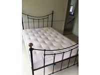 Double metal bedstead with Hypnos pocket sprung mattress in great condition