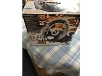 Super sports 3x racing wheel for Xbox 360, pc and ps3
