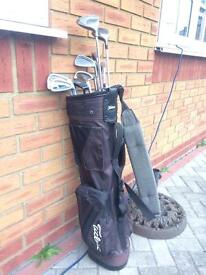 Golf Clubs Variety With Titleist Bag