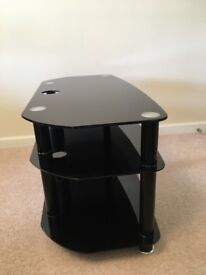 Brand new black glass TV stand (urgently requires new home- offers welcome)