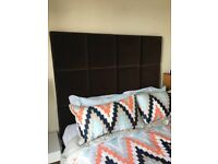 Super King Velvet Headboard & 4 Drawer Divan (with mattress)