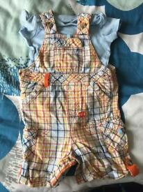 Dungaree with top set 12-18 months