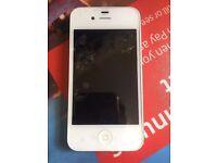 I Phone 4 16GB voda & lebara network Good Condition white color