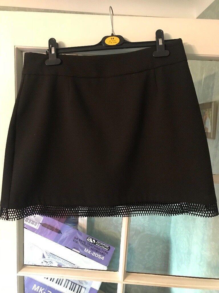 Women's black mini skirt size 14
