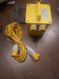 110v transformer with extension lead