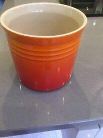 Le Creuset large utensils jar - volcanic orange