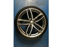 """Audi 20"""" RS6 Alloy (A6/A7 Black Edition) Brand New Goodyear F1"""