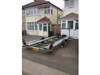 Car transporter trailer Woodford Brand Single Axle 1300 kg , 1000 kg load with brakes