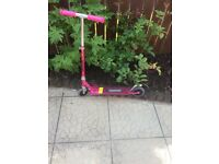 girl's pink scooter