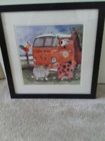 Camper van and animals