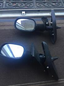 Ford ka (96-08) left and right side full door mirrors (manual)