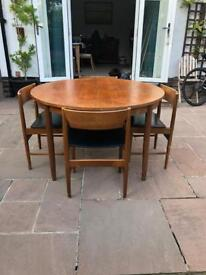 Retro Round Dining Table and Four chairs