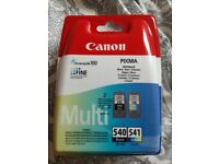 Brand new canon ink cartridges (black and colour)