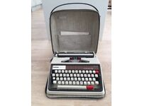 Suitcase of vintage cameras and typewriters - ZENIT-E, Ensign, Polaroid, Brother and more!