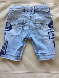Boys Diesel shorts jeans 4 years