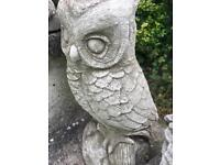 Owl concrete stone garden ornaments