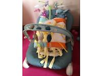 Baby bundle.....bouncer, cot mobile, cot bumper & cover
