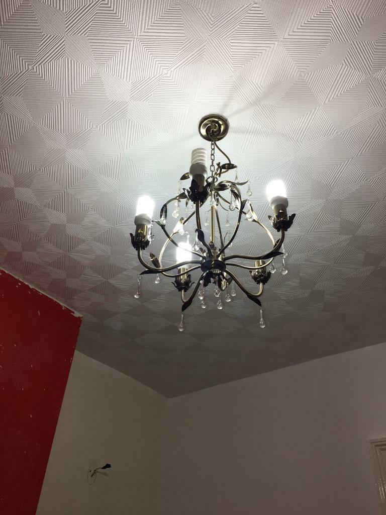 Chandelier with two side lights