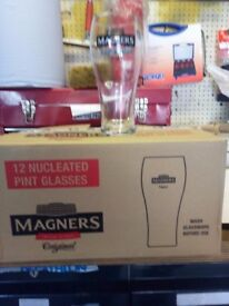 PRICE DROP NOW £10 ...BOX OF 12 NEW MAGNERS CIDER GLASSES.