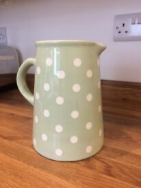 Laura Ashley green polka dot ceramic jug