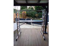 Step Ladder Multi Purpose DIY Aluminium 5 Way Scaffold Extension Platform