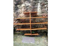 Large wooden shelves, good condition