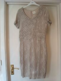 Reiss cream lace dress