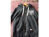 Zipped Superdry hoodie size M
