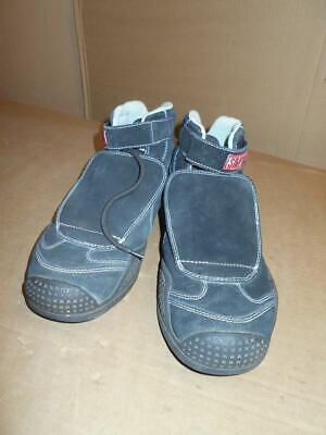 Simpson Racing Black High Top Driving Shoes Men's Size 8.5 SFI Spec 3.3/5 ~ Driving Shoes High Top