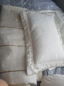 Cream handmade bedding