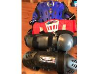 Motocross body armour etc.