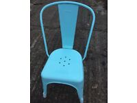 Set of 4 tolix style metal chairs