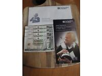 Jack Nicklaus Commemorative Notes. In Wallet & Envelope. 9 Notes Mint Condition, some consecutive.