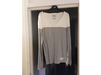 All Saints - Old Stripped Tonic Scoop T-Shirt