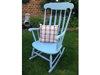 Solid pine shabby chic rocking chair