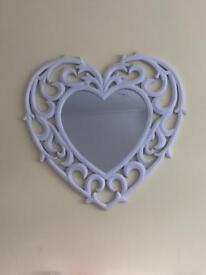 Pretty heart mirror