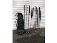 Old COLLECTABLE clubs and bag