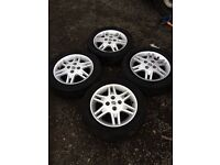 SUZUKI WAGON R ALLOY WHEELS AND TYRES IN EXCELLENT CONDITION ONLY £70 FOR THE SET