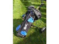 Junior golf set, bag & trolley